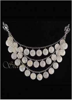 Traditional Silver Coin Necklace