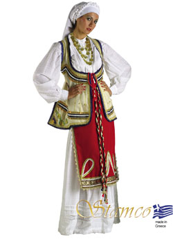 Folklore Roumeli Woman Costume