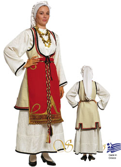 Folklore Sterea Hellas Woman Costume