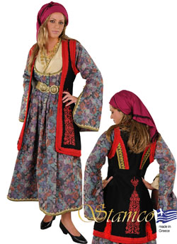 Folklore Epirus Woman with Embroidery Costume