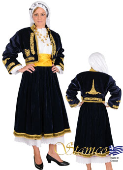 Folklore Cyclades Embroidery Costume