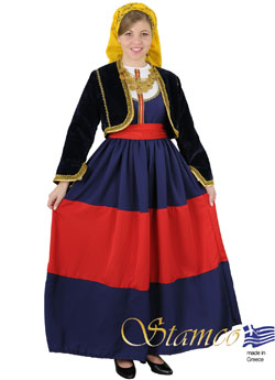 Folklore Mani Woman Costume Costume