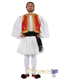 Folklore Tsolias Embroidery Costume