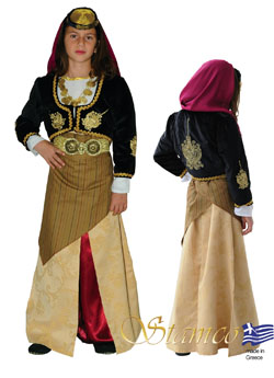 Folklore Pontos Girl Embroidered Costume