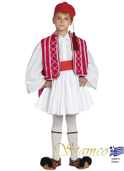 Folklore Tsolias Boy Red Costume